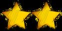 2 stars smaller